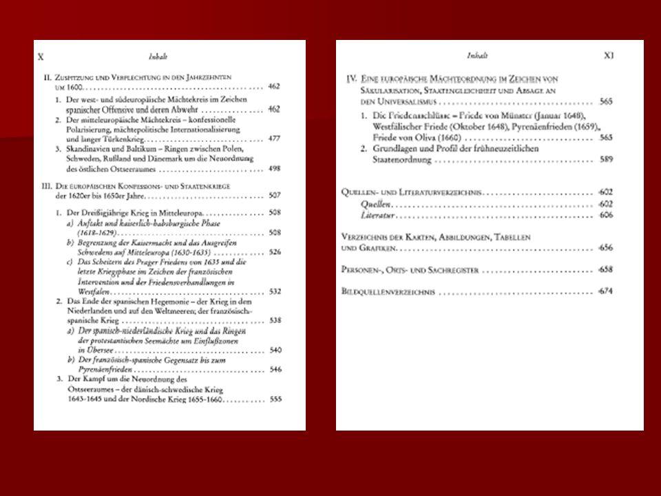 """Die konfessionelle Konfrontation im Reich """"In dem Maße, wie nun die konfessionelle Solidarität auf protestantischer und katholischer Seite in den Vordergrund trat, rückte die standes- und reichspolitische Solidarität in den Hintergrund (Stollberg-Rilinger, Das Heilige Römische Reich deutscher Nation, S."""