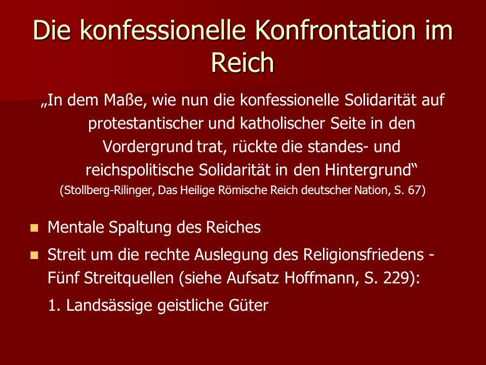 2.Declaratio Ferdinandea 3. Anerkennung Calvinismus 4.