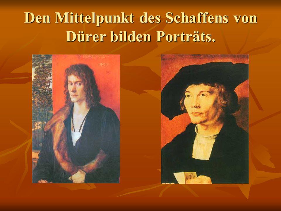 Dürers Selbstbildnis zeigt das eigene Gesicht des Künstlers; zeigt das eigene Gesicht des Künstlers; sagt Wichtiges von seinem Wesen, von seiner Haltung zur Umwelt und von seiner Zeit aus.