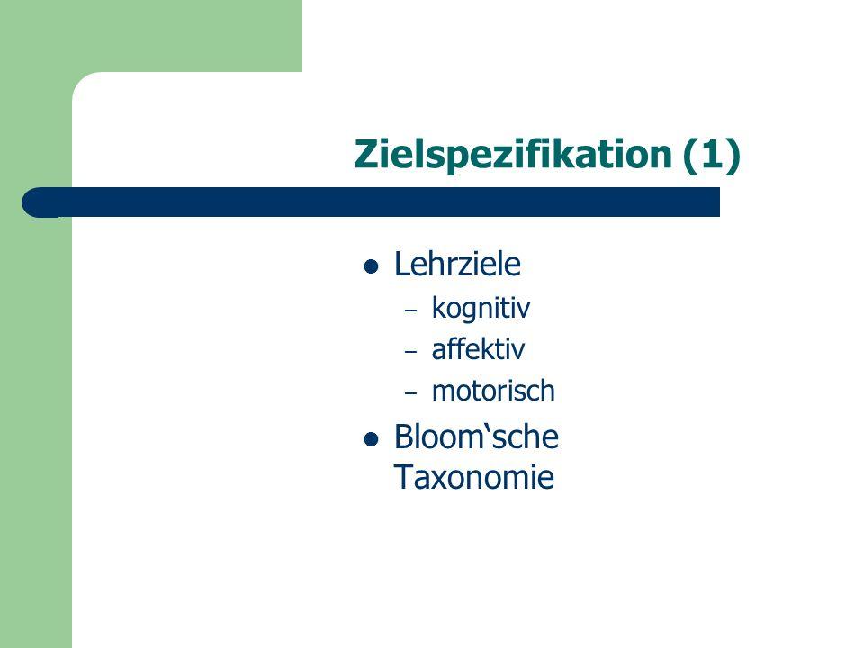 Zielspezifikation (2) F.OSER, J.-L. PATRY et al.