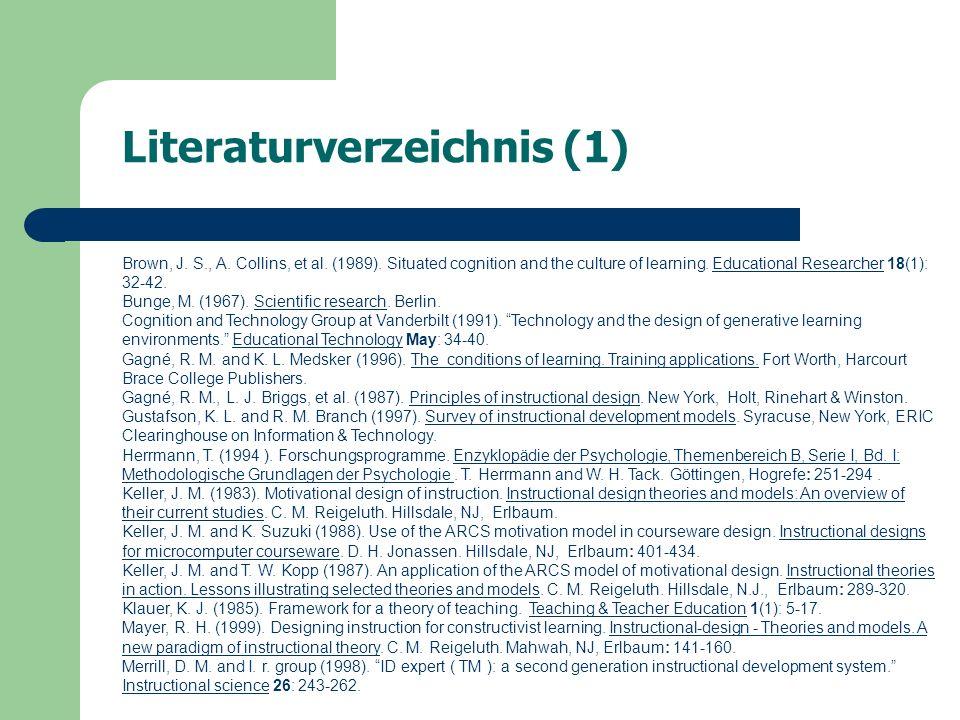 Literaturverzeichnis (2) Merrill, D.M. and I. r. group (1998).