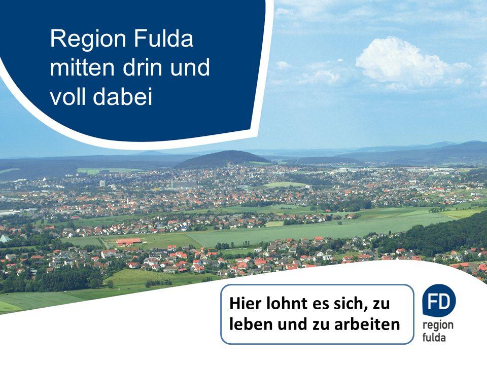 Zentrale Lage in der Mitte Europas ICE-KnotenpunktAutobahndreieck Drehkreuz im Dreiländereck Hessen – Thüringen – Bayern Brücke zum Rhein-Main-Gebiet