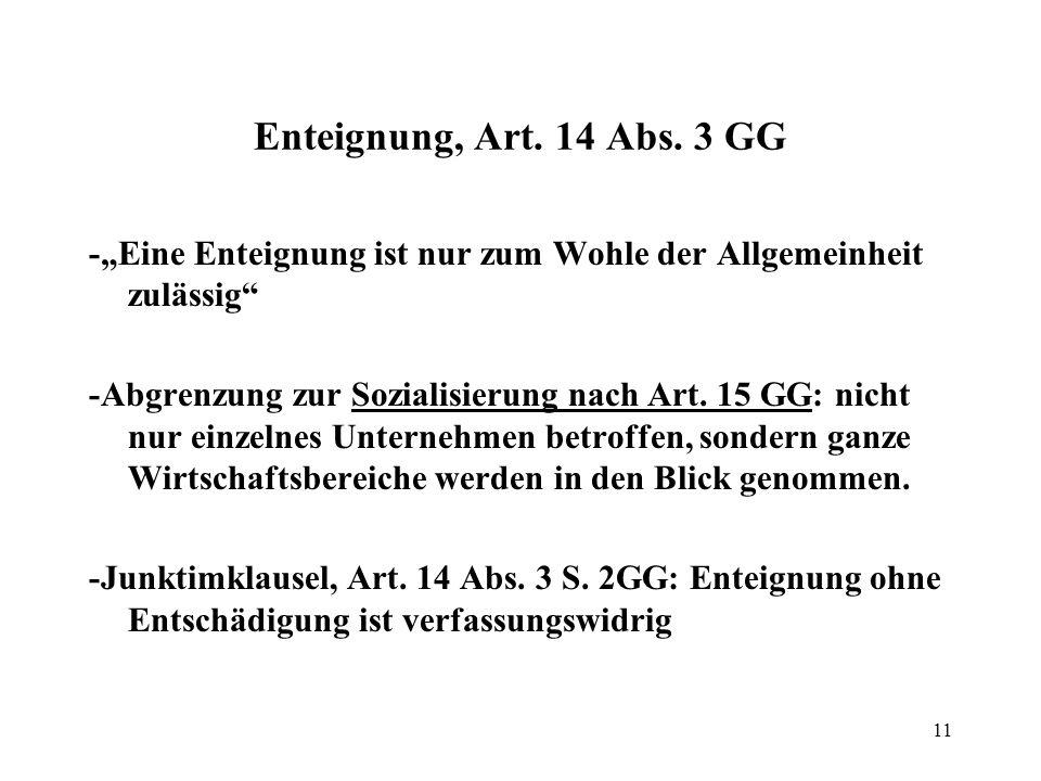 """12 Beispiel Bundestag und Bundesrat haben im Zuge der Finanzkrise das Rettungsübernahmegesetz beschlossen, das die Option einer Administrativenteignung von Anteilen an Unternehmen des Finanzsektors gegen angemessene Entschädigung als """"Ultima Ratio einräumt."""