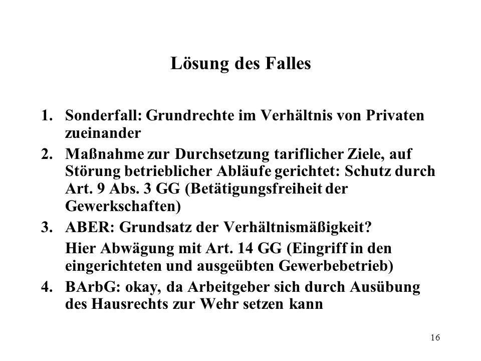 17 Allgemeine Handlungsfreiheit, Art.2 Abs.