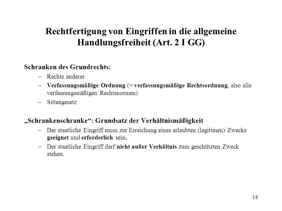 19 Gleichheitsgrundsatz, Art.