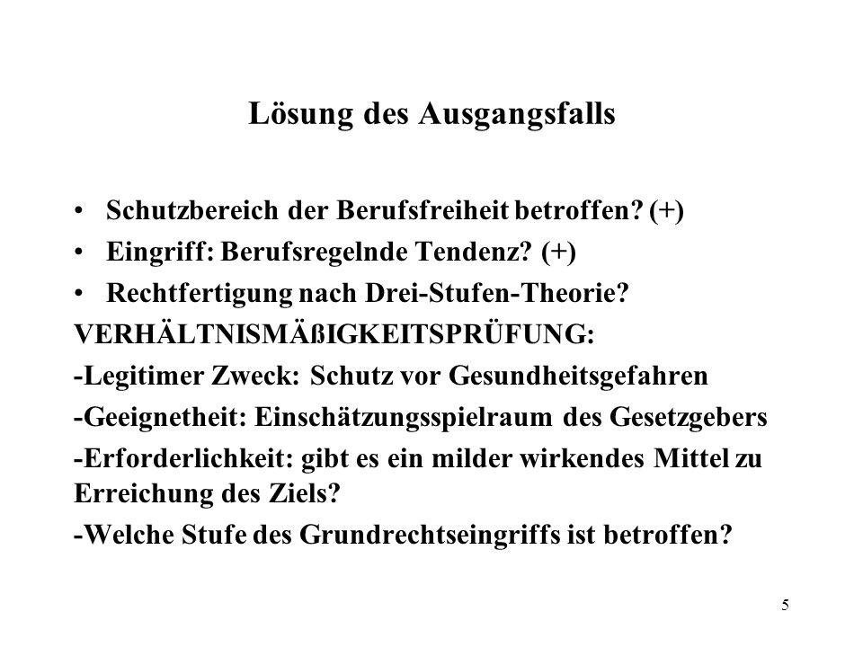 6 Programm Dritte Doppelstunde I.Wiederholung Grundrechtsprüfung II.