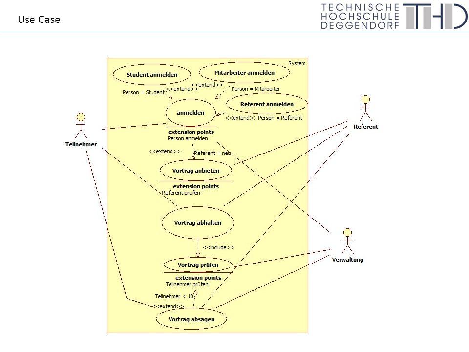 (WS10/11 2.) 2.2 SkizzErläutern Sie zwei interne Beziehungsarten in Anwendungsfalldiagrammen und geben Sie jeweils ein praktisches Beispiel an.