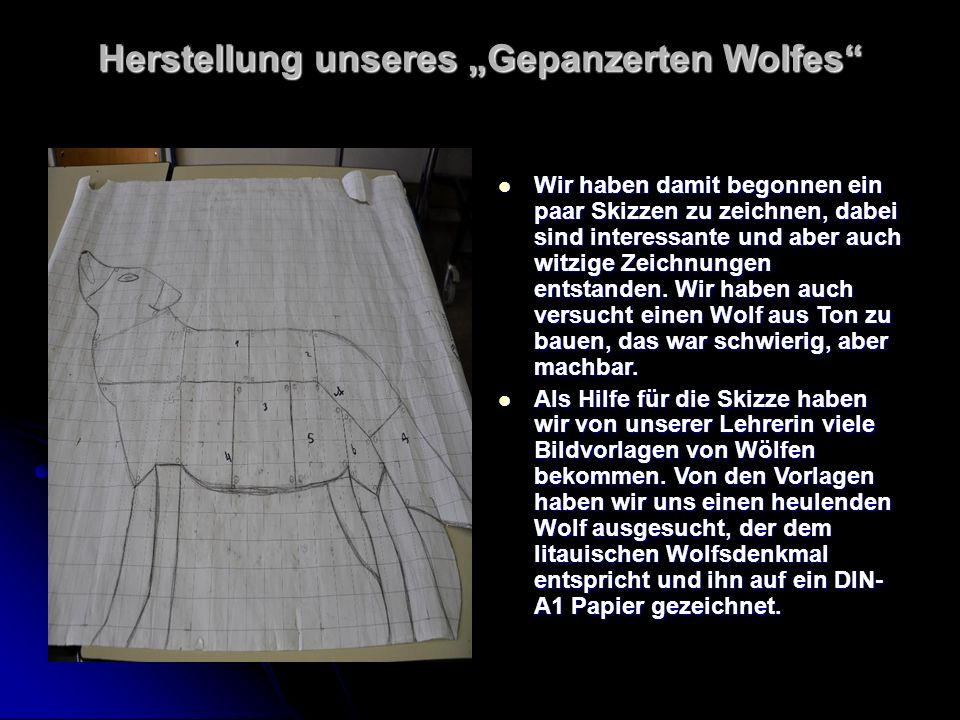 Pappmodell Aus Pappe einen Wolf herzustellen war nicht besonders schwierig.