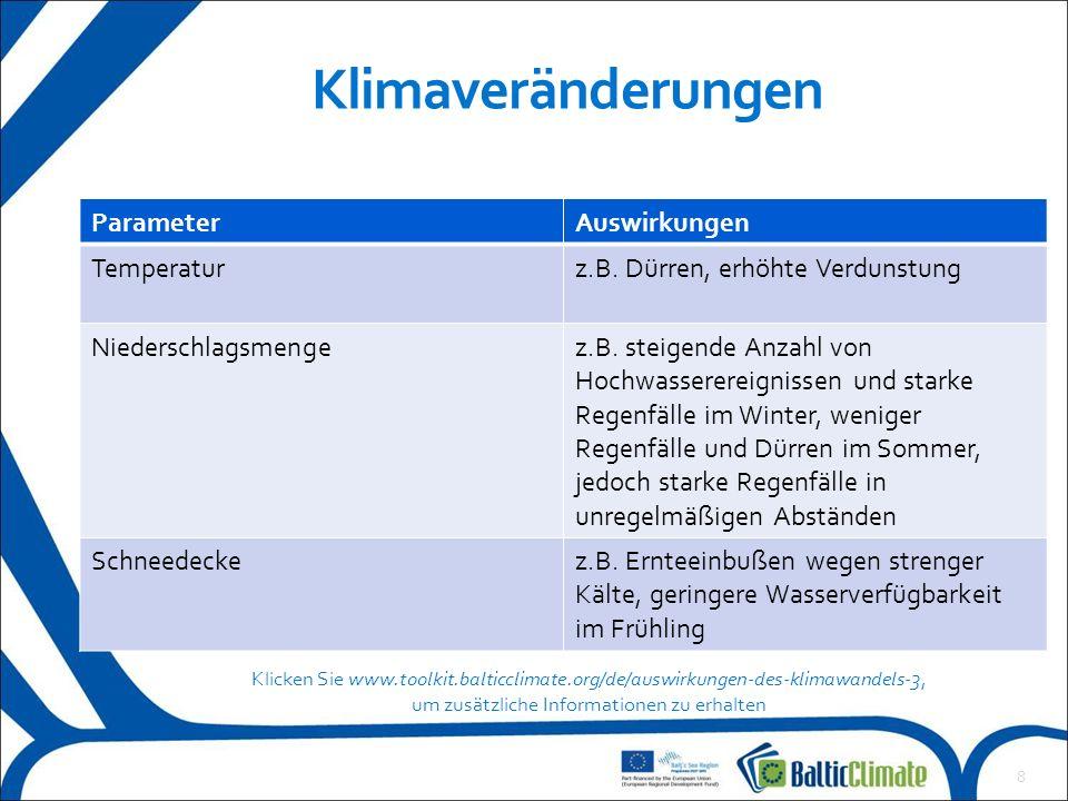 Was sind die Auswirkungen auf und Maßnahmen für Ihre Region.