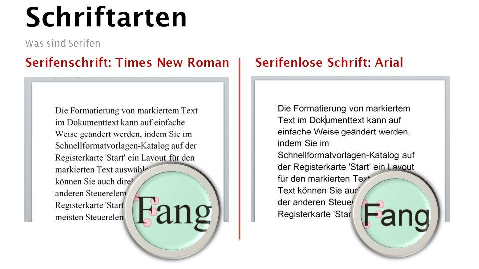 Schriftarten Serifen oder nicht? Vergleich ungünstig: Avant Garde