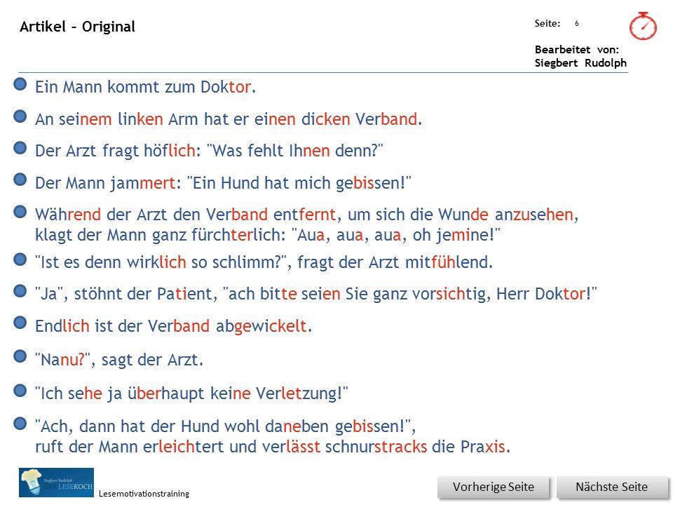 Übungsart: Seite: Bearbeitet von: Siegbert Rudolph Lesemotivationstraining 7 Du bist der Lehrer – korrigiere die Fehler.