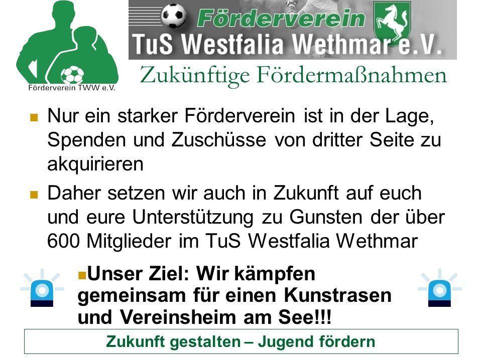 Zukunft gestalten – Jugend fördern Fördermaßnahmen Alle weiteren Information über den Förderverein auf der Internetseite: http://www.foerderverein-tww.de/