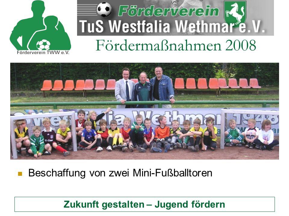 Zukunft gestalten – Jugend fördern Fördermaßnahmen 2008 Unterstützung bei der Beschaffung von Trainingsanzügen für die drei D-Junioren Mannschaften