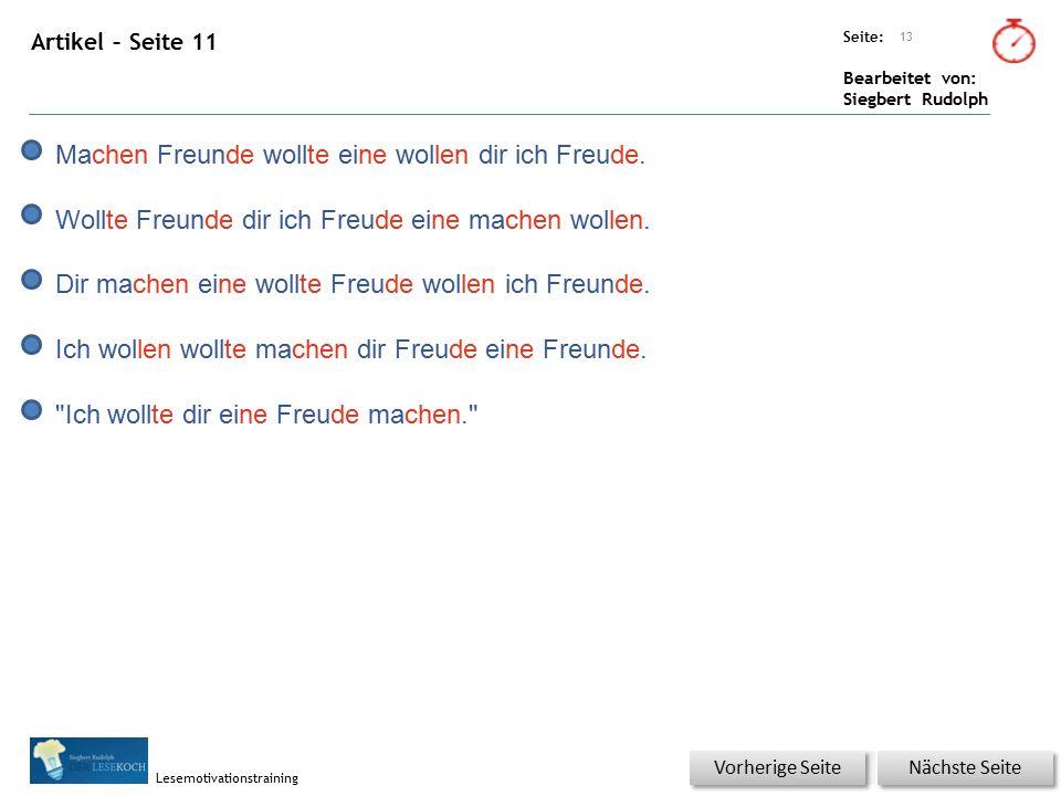Übungsart: Seite: Bearbeitet von: Siegbert Rudolph Lesemotivationstraining 14 Du bist der Lehrer – korrigiere die Fehler.