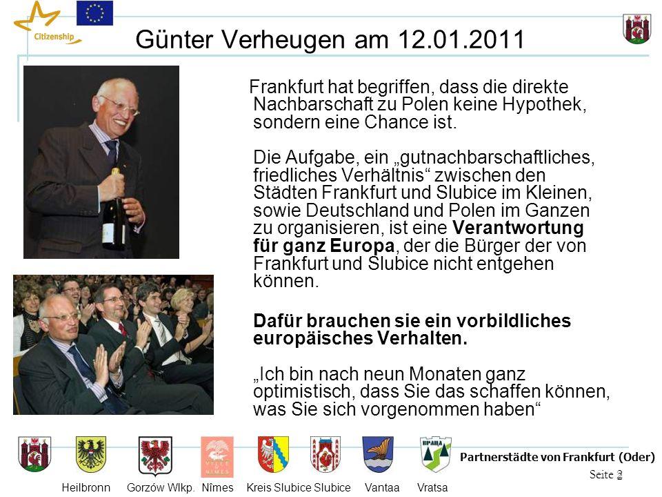 3 Seite 3 Partnerstädte von Frankfurt (Oder) Heilbronn Gorzów Wlkp.