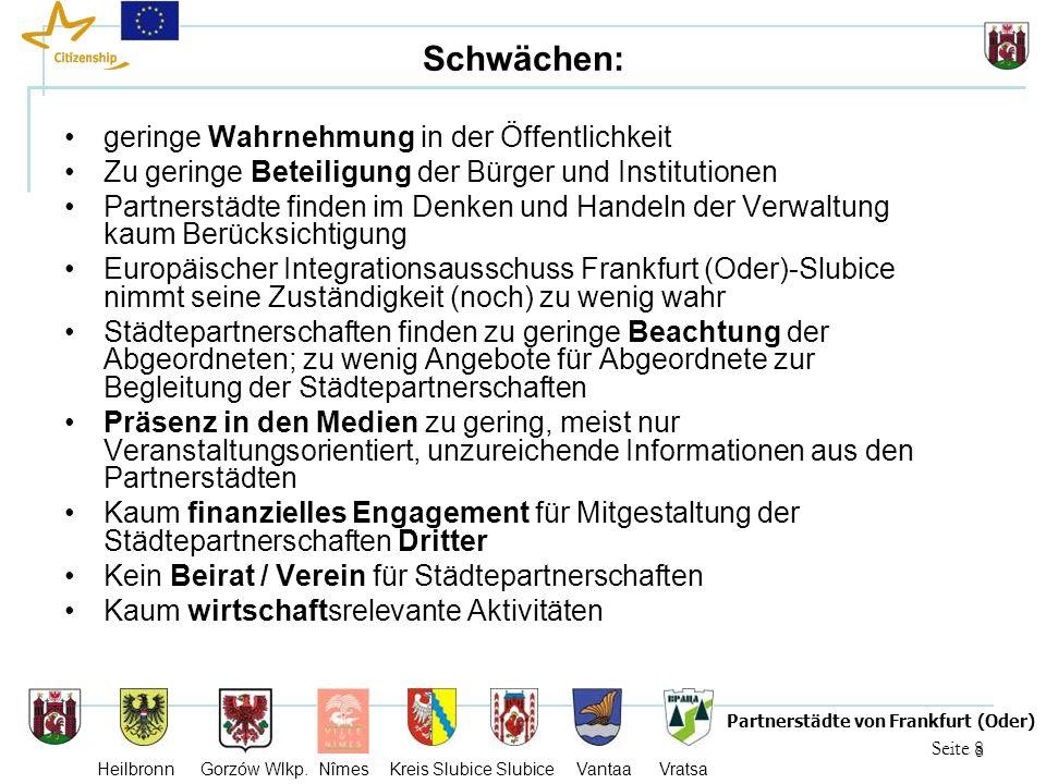 9 Seite 9 Partnerstädte von Frankfurt (Oder) Heilbronn Gorzów Wlkp.