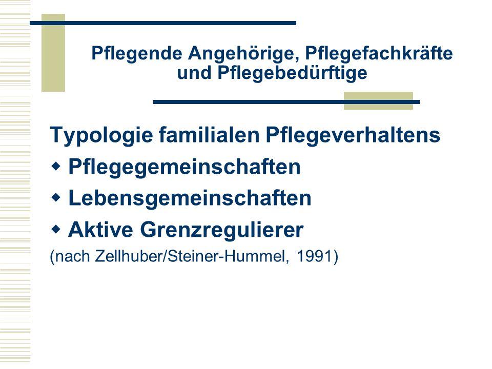 Beschreibung von Pflege  Voraussehende Pflege  Präventive Pflege  Beaufsichtigende Pflege  Instrumentelle Pflege  Schützende Pflege  Wiederherstellende und reziproke Pflege (nach Bowers, 1987 und Nolan, 2001)