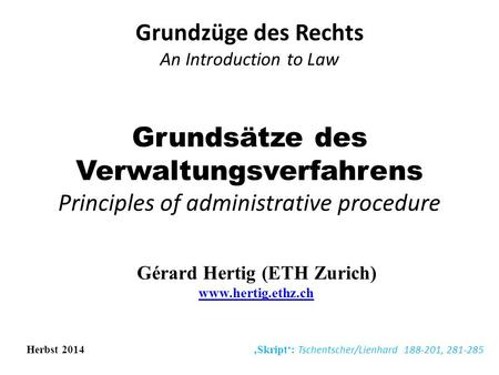 Grundzüge des Rechts An Introduction to Law
