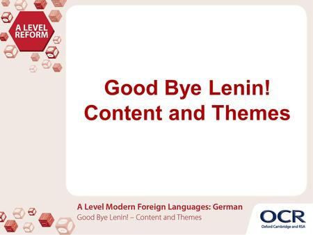 Good Bye Lenin! Content and Themes.