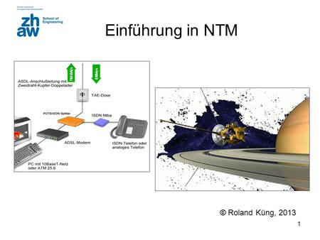 1 Einführung in NTM © Roland Küng, 2013. 2 https://home.zhaw.ch/~kunr/ntm.html Where to find the information ? Skript Slides Exercises Lab.