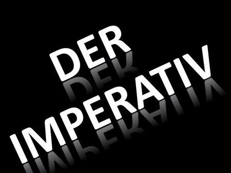 "The imperative tense is also known as the command forms. When giving commands, you can use only the understood subjects ""you"" or ""we"" in English. In German,"