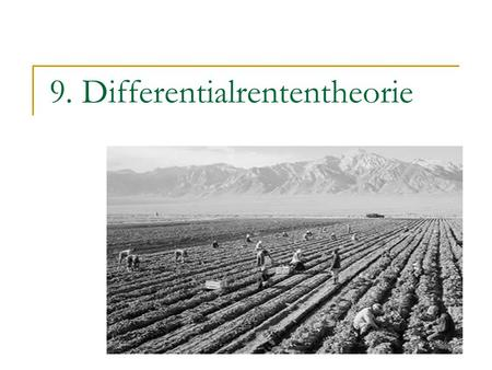 9. Differentialrententheorie