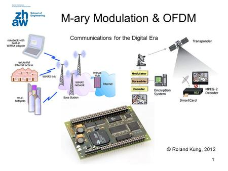 1 M-ary Modulation & OFDM © Roland Küng, 2012 Communications for the Digital Era.