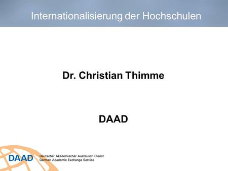 Dr. Christian Thimme DAAD
