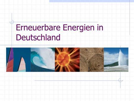 Aktien erneuerbare energien deutschland