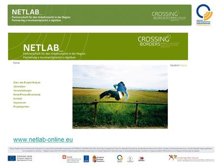 Www.netlab-online.eu. Projektname: Network for Labourmarket Cooperation in the border Region HU-AT (NetLab) Projektträger (Lead Partner): Regionaler Entwicklungsverband.