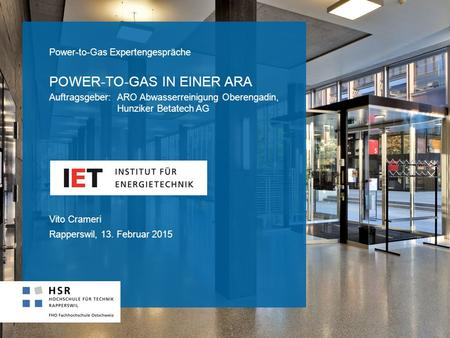 Power-to-Gas in einer ARA