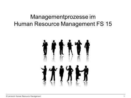 © Lehrstuhl Human Resource Management1 Managementprozesse im Human Resource Management FS 15.