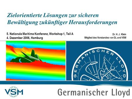 5. Nationale Maritime Konferenz, Workshop 1, Teil A 4