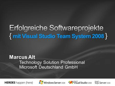Marcus Alt Technology Solution Professional Microsoft Deutschland GmbH.