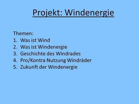 Powerpoint windenergie