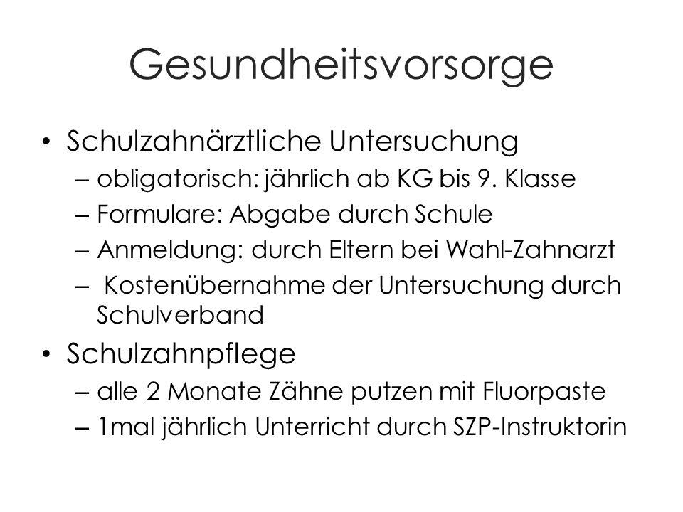 Schulärztliche Untersuchung – Obligatorisch dreimal: KG 6 + 4.