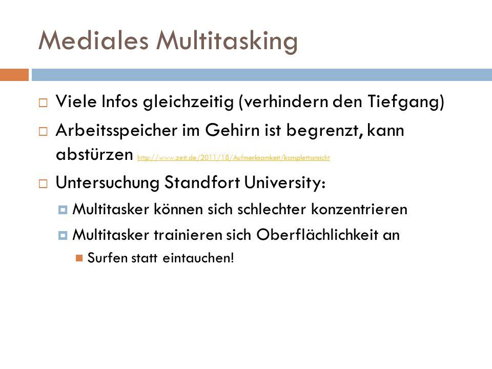 """Mediales Multitasking """"Mensch als schlechter Multitasker """"Schon die Erwartung, bald werde eine Nachricht eintreffen, bewirke eine leistungsmindernde Ablenkung - Braunschweiger Neurobiologe Martin Korte"""