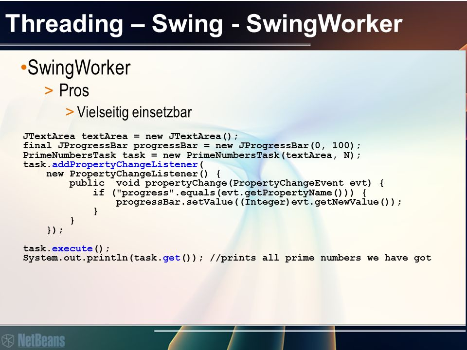 Threading – Swing – SwingWorker