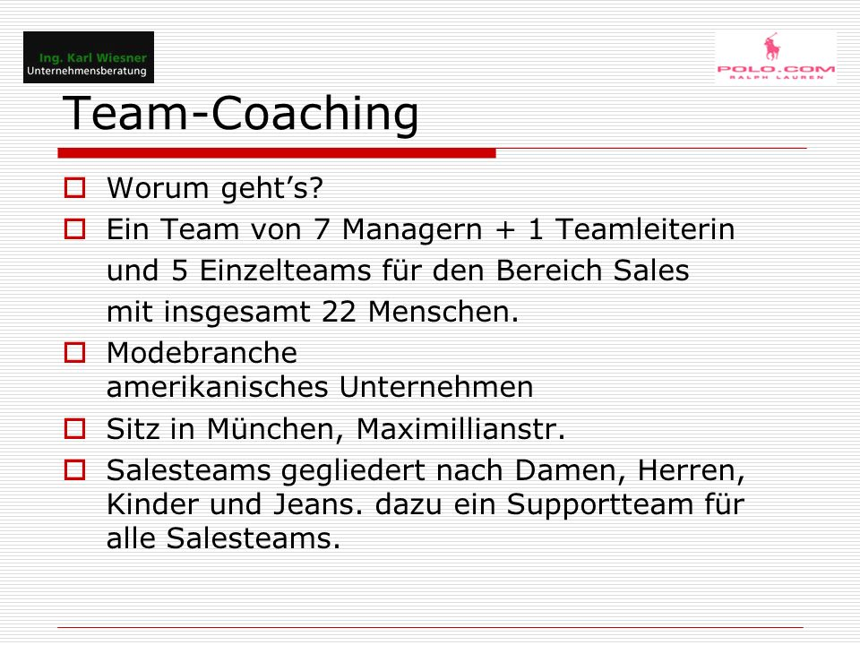Team-Coaching Die Manager