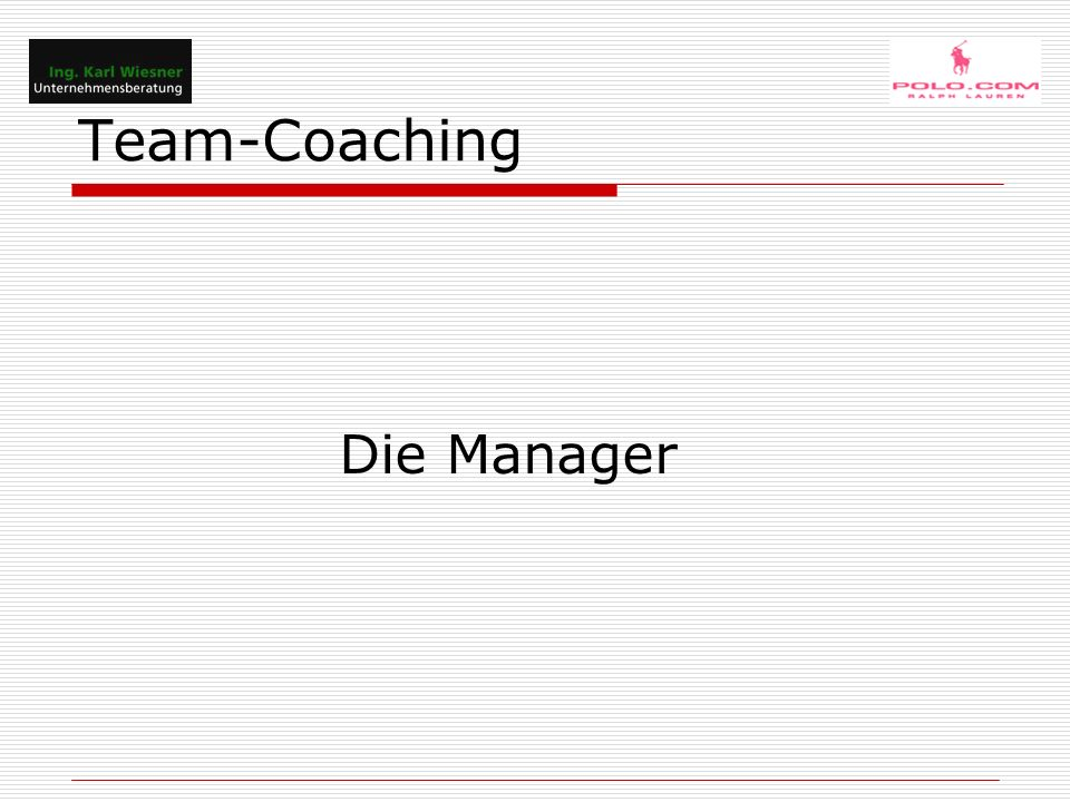 Team-Coaching Michael H.