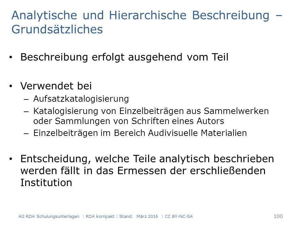 Analytische Beschreibung – Grundsätzliches rein analytische Beschreibung (1.5.3): – es wird nur der Teil beschrieben, z.