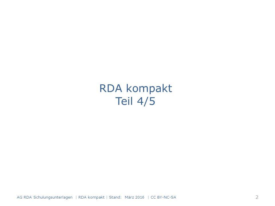Eigene Beschreibung für die monografische Reihe 3 Modul 3.02.11 AG RDA Schulungsunterlagen | RDA kompakt | Stand: März 2016 | CC BY-NC-SA