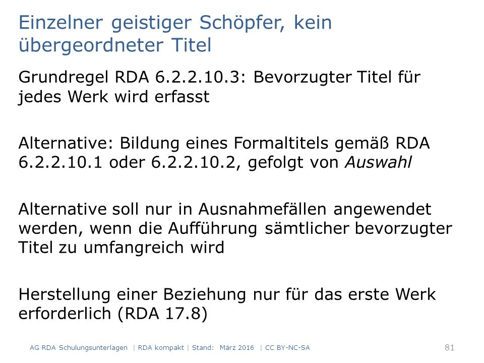 82 RDAElementErfassung 2.3.2HaupttitelDutschke 2.3.2 usw.