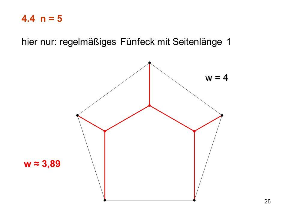 26 4.5 n = 6 Überraschung (?) beim regelmäßigen Sechseck