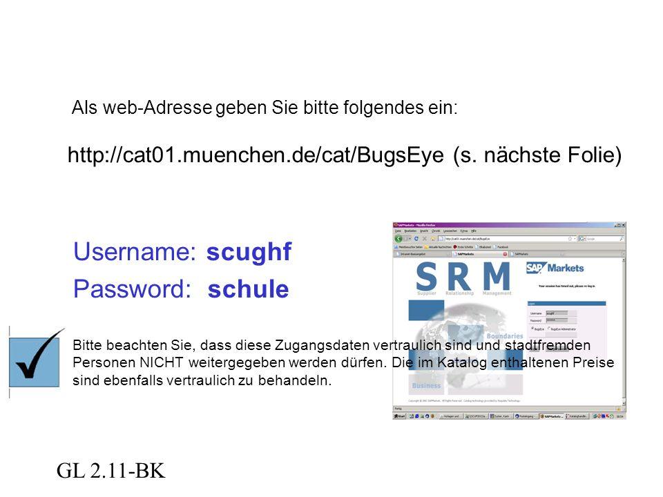 """GL 2.11-BK Web-Adresse scughf schule Anschließend klicken Sie auf """"Logon ."""