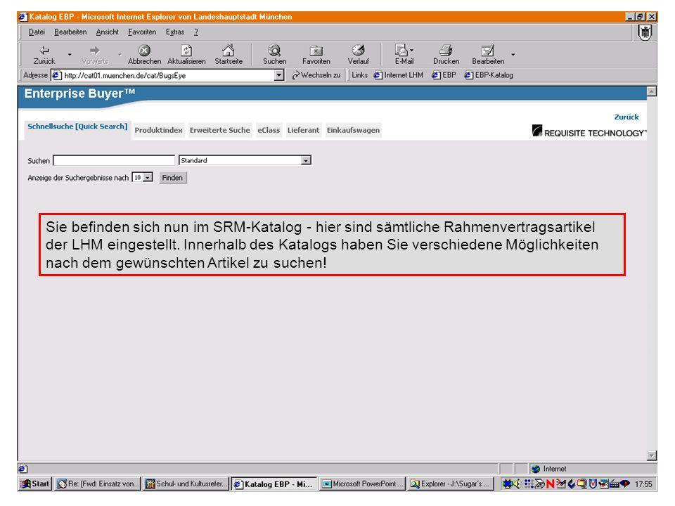 GL 2.11-BK Suchvariante 1 - empfohlene Variante: Quick Search (Schnellsuche) Geben Sie den gewünschten Artikel ein - beachten Sie hierbei, dass Sie anfangs nicht zu explizit suchen.