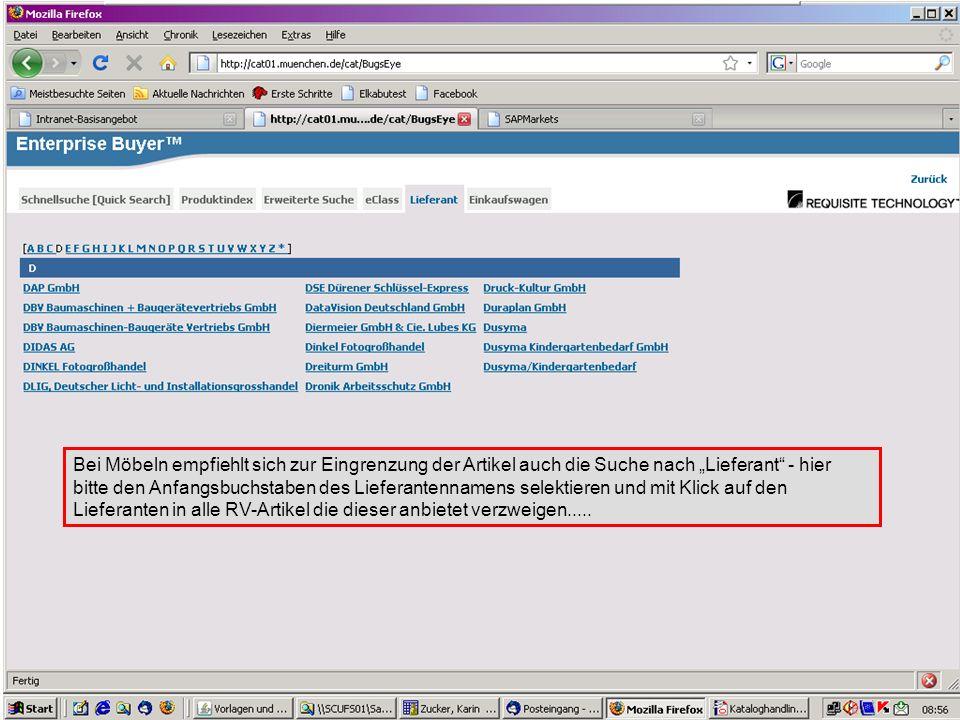GL 2.11-BK Nachdem alle RV-Artikel gelistet sind können Sie zusätzlich noch nach einem bestimmten Artikel suchen