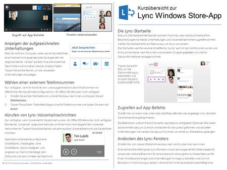 Lync Windows Store-App