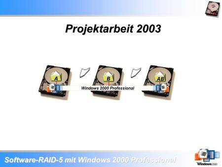 Software-RAID-5 mit Windows 2000 Professional Projektarbeit 2003.