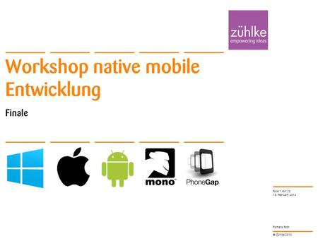 Workshop native mobile Entwicklung